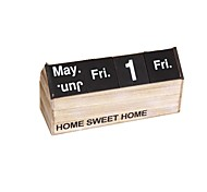 Personalized Wooden Calendar Desk Calendar