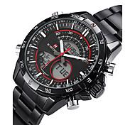 sport fashion polso mens militari orologi digitali doppio fuso polso data zona giorno lcd guardare orologio unico orologio fresco