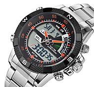 Masculino Relógio Esportivo Relógio de Pulso Quartzo Quartzo Japonês LED Calendário Impermeável Noctilucente Aço Inoxidável Banda Legal