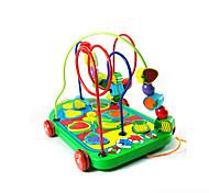 Wooden Bead Maze Cart Toy