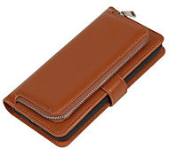 For iPhone 7 Plus Luxury 2in1 Mobile Phone Zipper Wallet Leather Case for iPhone 6/6S/6 Plus/6S Plus