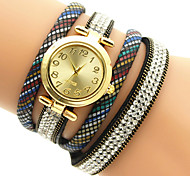 Fashion Quartz Casual Round Alloy Dial Women's Bracelet Watches Cool Watches Unique Watches