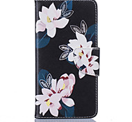 Black Lily Pattern Card Phone Holster for Samsung Galaxy G530/J3/J5/J510