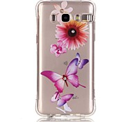 Pink Butterfly Pattern TPU Popular Brands Calling Flash Case Cover For Samsung Galaxy J7 (2016) / J5 (2016) / J1 (2016)