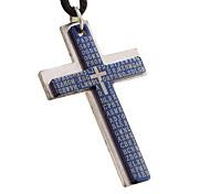титана стали ожерелье старинных крест с скрытность веревкой - крест двухслойная