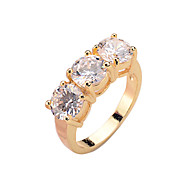 Copper inlaid CZ Ring Korean Trend rose gold platinum gold Gold Ladies Ring color