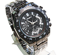 Men's Fashion Watch Casual Watch Quartz Stainless Steel Band Black