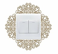 AYA™ DIY Wall Stickers Wall Decals, Flower Vine Design Type PVC Switch Panel Stickers 19*19cm