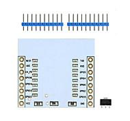 landa tianrui tm-esp8266 esp-07-esp esp 12e 12f-wi-fi módulo adaptador transceptor inalámbrico w / regulador de 3.3v -white ic