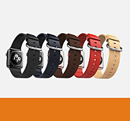 Coffee / Red / Black / Blue / Yellow Leather  Modern Buckle For Apple Watch 38mm / 42mm