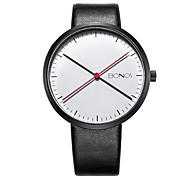 Unisex Simple Fashion Leather Band Quartz Watch