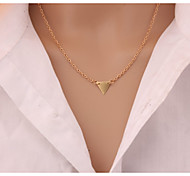 Europe And The United States New Fashion Street Snap Wind Double Triangle Collarbone Chain Short Chain Necklace Women