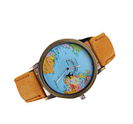 Men's Mapping Case Denim Band Dress Wacth