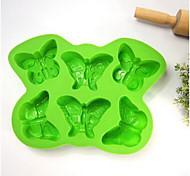 6 avec papillon en silicone bakeware diy popsicle moule treillis boîte moules à la crème d-47 5pcs