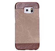 Для Samsung Galaxy S7 Edge Рельефный Кейс для Задняя крышка Кейс для Один цвет Мягкий Искусственная кожа SamsungS7 edge / S7 / S6 edge