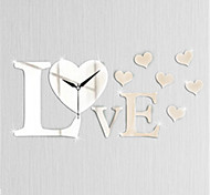 Love Mirror  Clock Creative Personality Living Room