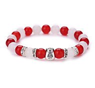 New Arrival Natural White Marble Agate Jewelry Fashion Have Dollars Beads Bracelet  #YMGS1031