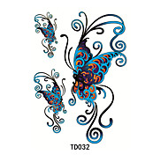 1pcs  Temporary Tattoo Sticker Blue Butterfly