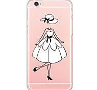 Beautiful Girl TPU Soft Ultra-thin Back Cover Case Cover For Apple iPhone  6 Plus / iPhone 6s/6 / iPhone 5s/5