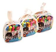 deli penna 12 colori acquerello penna penna colore graffiti penna della spazzola dell'acquerello dei bambini 12 caricato