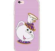 Cartoon Translucent TPU Soft Ultra-thin Back Cover Case Cover For Apple iPhone  6 Plus / iPhone 6s/6 / iPhone 5s/5