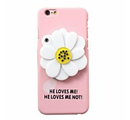 After the Pink Frosted Brought Flowers Mirror Shell Model for iPhone 6 6s Plus