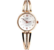 Women's Fashion Watch Bracelet Watch Simulated Diamond Watch Casual Watch Imitation Diamond Quartz Alloy Band Elegant Silver Gold Strap Watch
