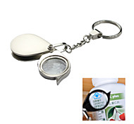 5X Mini Portable Folding Eye Magnifying Glass Stainless Steel Magnifier Keychain