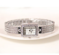 Women's Wrist watch Bracelet Watch Casual Watch Imitation Diamond Quartz Alloy Band Sparkle Charm Elegant Silver