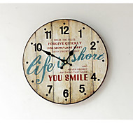 European Retro Nostalgia Crafts Wall Clock Home Decoration Wall Clock Mute Bell 0002D1