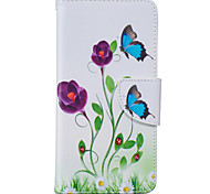 Butterfly Flowers Pattern Card Phone Holster for Samsung Galaxy G530/J3/J5/J510