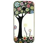 For HTC Case Embossed Case Back Cover Case Tree Hard PC HTC