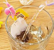 2pcs em forma de caracol silicone ferramenta de chá de material (cor aleatória)