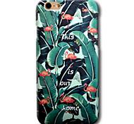 Для Кейс для iPhone 6 Кейс для iPhone 6 Plus С узором Кейс для Задняя крышка Кейс для Фламинго Твердый PC для AppleiPhone 6s Plus iPhone