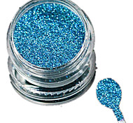 1 Bottle Nail Art Laser Sky-blue Glitter Shining Powder Manicure Makeup Decoration Nail Beauty L16