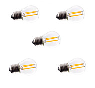 5pcs G45 4W E27 360LM Dimmable 360 Degree Warm Cool White Color LED Filament Light