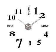 New DIY 3D Home Decoration Wall Clock Big Mirror Wall Clock Modern Design,Large Size Black Wall Clocks