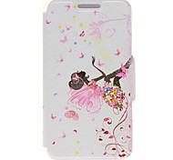 Kinston® Butterfly Girl Pattern PU Leather Case For iPhone 7 7 Plus 6s 6 Plus SE 5s 5c 5 4s 4
