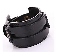 Retro Punk Double-Layer Super Wide Leather Belt Bracelets 1pc