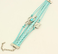 Leather Bracelets 1pc,Friendship Bracelet Lucky Owl Love Pearl Infinity Diamond Adjustable Jewelry