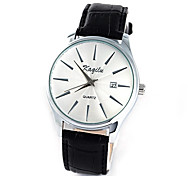 Men's Casual Leather Band Quartz Watch