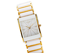 Women's Fashion Watch Simulated Diamond Watch Casual Watch Quartz Japanese Quartz Stainless Steel Band Elegant White