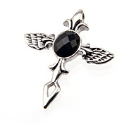 316L Stainless Steel Cross Pendant With Angel Wings