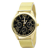 Unisex Fashion Watch Casual Watch Quartz Stainless Steel Band Gold