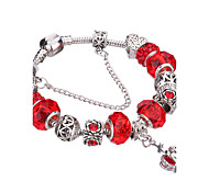 Silver Plated Glass Bead Bracelet #YMGP1010