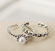 Women's European Style Fashion Simple Vintage Twist Woven Midi Rings