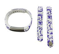 Smart Strap Bracelet Colorful Printing Silicone Bracelet For Fitbit Alta(07)