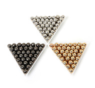 Beadia 100Pcs 8mm Round Acrylic CCB Spacer Loose Beads Gold &Gunmetal&Rhodium Plated (1.6mm Hole)