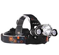 Beleuchtung LED Taschenlampen LED 2000 lumens Lumen 4.0 Modus Cree T6 18650einstellbarer Fokus / Wasserdicht / Wiederaufladbar / Stoßfest