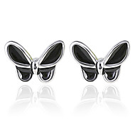 2016 Korean Women 925 Silver Sterling Silver Jewelry Acrylic Butterfly Earrings Stud Earrings 1Pair